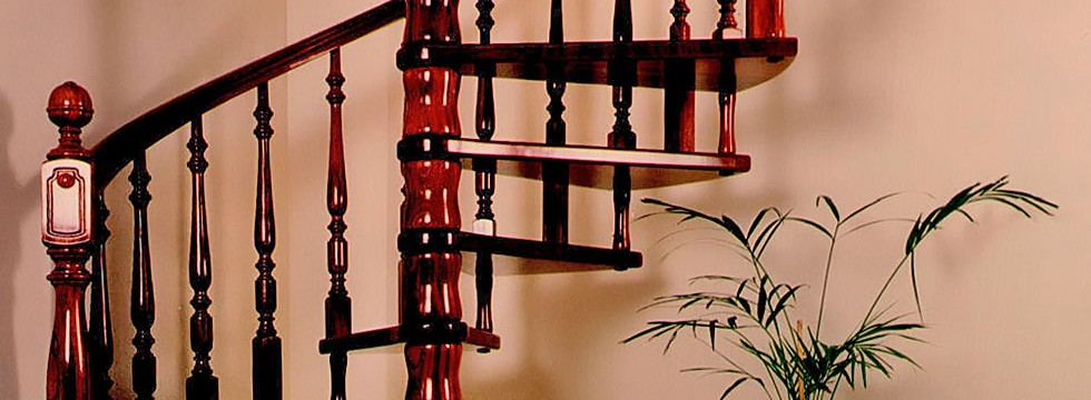 Torneados fuentespalda barandillas y escaleras de madera for Escaleras en escuadra