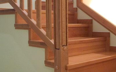 Torneados fuentespalda barandillas y escaleras de madera for Como hacer una escalera de madera con descanso