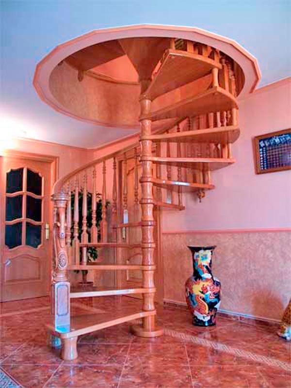 Torneados fuentespalda barandillas y escaleras de madera forja hierro acero inoxidable y - La escalera de caracol ...