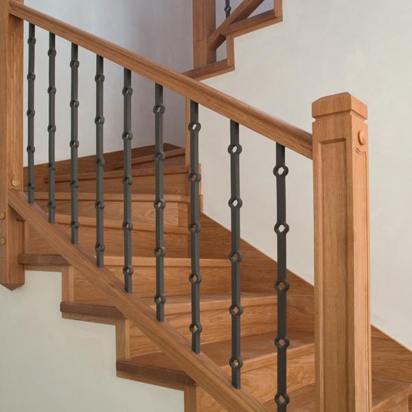 Escalera de hierro forjado y madera con barandilla de - Pasamanos de escalera ...