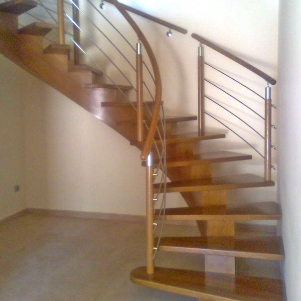 1000 images about escaleras maderas on pinterest for Modelos escaleras interiores
