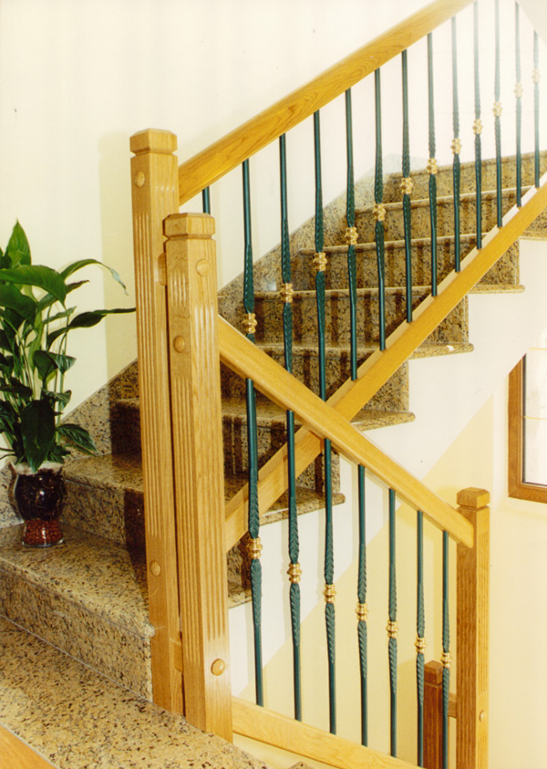 Barandillas de acero inoxidable madera y cristal car interior design - Barandillas de hierro ...