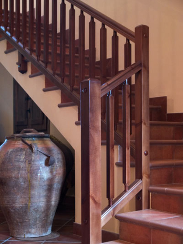 Torneados fuentespalda barandillas y escaleras de madera forja hierro acero inoxidable y - Como hacer una barandilla de madera ...
