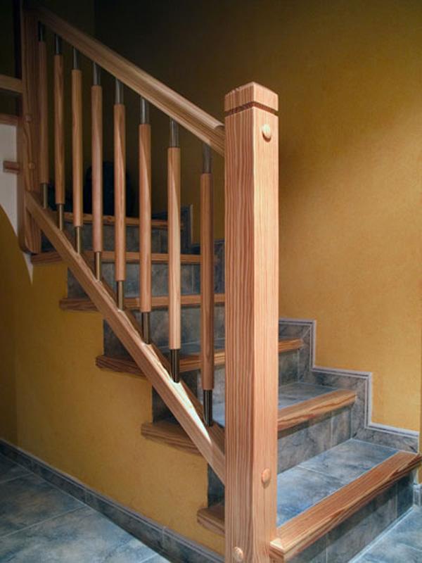 Torneados fuentespalda barandillas y escaleras de madera forja hierro acero inoxidable y - Baranda de madera ...