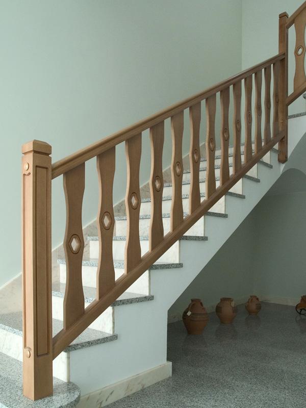 Barandillas madera materiales de construcci n para la reparaci n - Barandillas de madera para interior ...