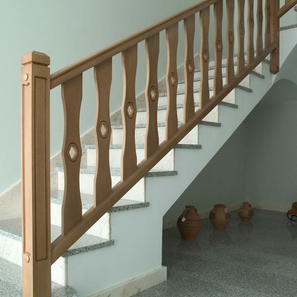 Torneados fuentespalda barandillas y escaleras de madera - Barandillas de madera para interior ...
