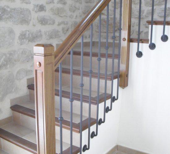 Barandillas de madera, forja y hierro - FORJA01
