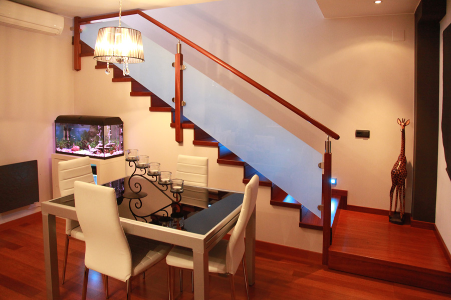 Torneados Fuentespalda Barandillas Y Escaleras De Madera Forja - Escaleras-de-cristal-y-madera