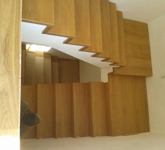 Escaleras de obra forradas