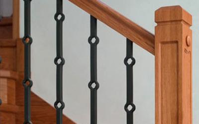Barandillas de madera, forja y hierro